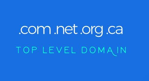 .com .net .org .ca top-level domain
