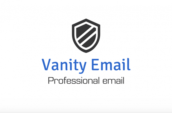 Vanity email - professional email logo