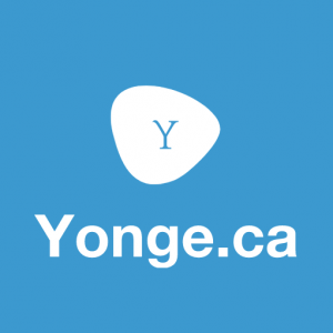 yonge.ca logo blue background and letter y logo